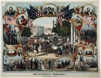 """The fifteenth amendment celebrated May 19th 1870,"" print, 1870 (Private Collect"