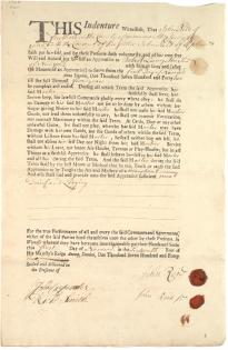 John Reid Jr.'s indenture of apprenticeship with Robert Livingston Jr.,