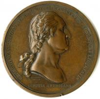 Benjamin Duvivier, George Washington before Boston, medal, ca. 1790 (GLC03221)