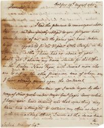 Archibald Hinshelwood to Joshua Mauger, August 19, 1765. (GLC03902.61)