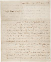 Martha Washington to Hannah Boudinot, January 15, 1784 (GLC03909)