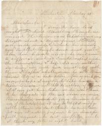 Mary Kelly to Sallie L. Gordon, March 31, 1862 (Gilder Lehrman Collection)