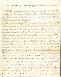 [Freedmen's contract between Isham G. Bailey and freedmen Cooper Hughs and Charles Roberts], January 1, 1867 (Gilder Lehrman Collection)