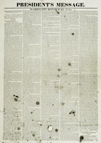 President's Annual Message to Congress, Washington Republican Extra, Dec. 2, 1823 (GLC04824)
