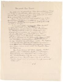 Albert Einstein to Rose Russell [in German], [May 28], 1953. (Gilder Lehrman Collection)