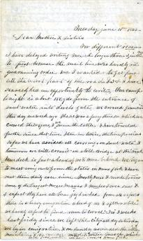 Samuel Russell to his mother and sisters, June 10, 1862 (GLC05493.01)
