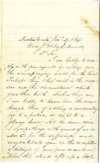 Samuel F. Smith to J. Wiley Edmands, January 29, 1864. (Gilder Lehrman Collectio