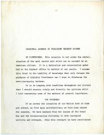Inaugural Address of President Herbert Hoover, March 4, 1929 (Gilder Lehrman Collection)