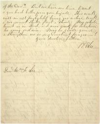 Robert E. Lee to William F. Lee, April 24, 1864. (Gilder Lehrman Collection, GLC