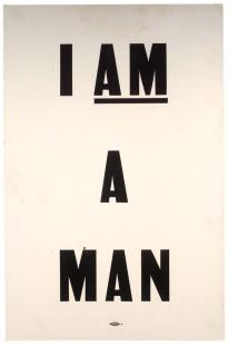 I am a man broadside, ca. April 4, 1968. (Gilder Lehrman Collection)