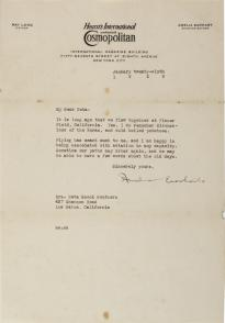 Amelia Earhart to Neta Snook Southern, January 6, 1929. (GLC07243.01)