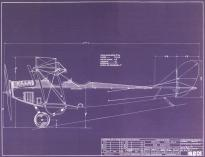 Blueprint of the Curtiss Jenny airplane (GLC07243.007)