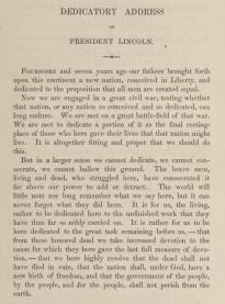 Abraham Lincoln S Gettysburg Address Original
