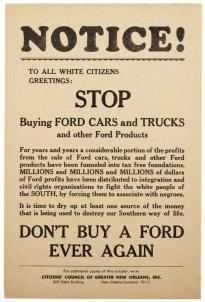 """Don't Buy A Ford Ever Again"" broadside, ca. 1960. (GLC08259)"