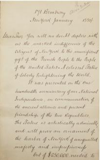 Ulysses S. Grant to Tiffany and Co., January 1884. (Gilder Lehrman Collection)
