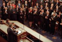 President George W. Bush addresses joint session of Congress, September 20, 2001 (George W. Bush Library)