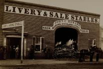 John Howard's livery & sale stables. (Gilder Lehrman Collection)