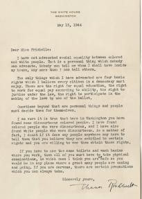 Eleanor Roosevelt to Addie Frizielle, May 13, 1944 (Courtesy of Seth Kaller, Inc.)