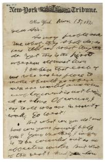 Horace Greeley to R. L. Sanderson, November 15, 1871. (GLC00608)