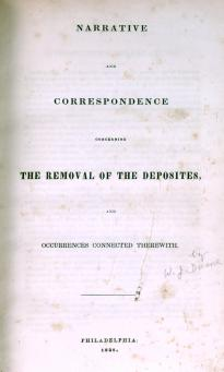 Narrative and Correspondence, by William J. Duane (1838). (GLC02144)