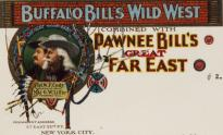 Letterhead from Buffalo Bill's Wild West show, 1910, detail. (GLC)