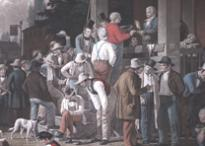 The County Election, based on a painting by George C. Bingham, 1854. (Gilder Leh