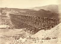 """Promontory Trestle Work,"" Views of the American West, by Andrew J. Russell, ca. 1868. (GLC04349)"
