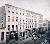 Photograph of Edison Machine Works in New York City, 1881. (GLC07616.05)