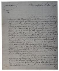 George Washington to Sir John Sinclair, December 11, 1796. (GLC08095p1)