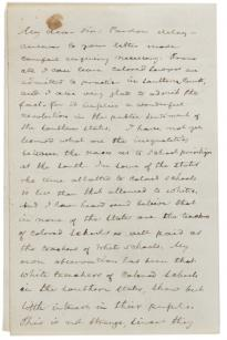 Frederick Douglass to an unknown recipient, November 23, 1887. (Gilder Lehrman)