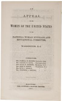 """An Appeal to the Women of the United States"" (Washington DC, 1871) (GLC08999) """