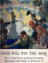 Detail from a World War I poster. (GLC09522)