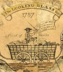 """The Looking Glass for 1787,"" a political cartoon. (LC-DIG-ppmsca-17522)"