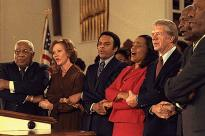 Jimmy and Roslyn Carter with civil rights leaders, 1979. (Jimmy Carter Library)