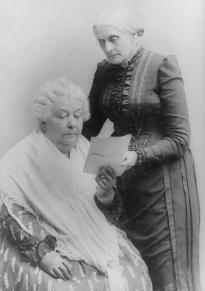 Elizabeth Cady Stanton and Susan B. Anthony, ca. 1890. (Library of Congress P&P)