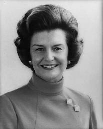 Photograph of Betty Ford, 1974. (Library of Congress Prints and Photographs Divi