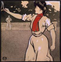 """Woman and Man Playing Tennis,"" by Edward Penfield, 1902. (LC-USZC4-2922)"