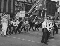Ford Local 600 of the CIO in the Labor Day parade in Detroit MI, 1942. (LOC P&P)