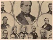 Lawmakers Who Voted Aye for the Thirteenth Amendment, photographic montage by George M. Powell, ca. 1865 (Gilder Lehrman Collection)