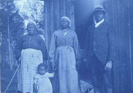 Portrait of an African-American family in Calhoun, Alabama, cyanotype by Richard Riley, ca. late 1800s. (Gilder Lehrman Collection)