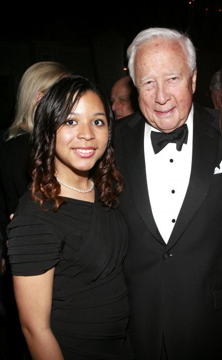 Academy of American Studies student Elizabeth Hyde, David McCullough