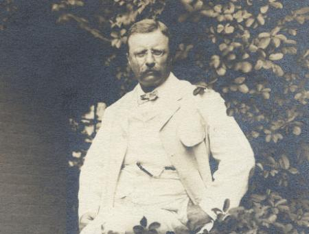 Theodore Roosevelt at Home, c.1905.