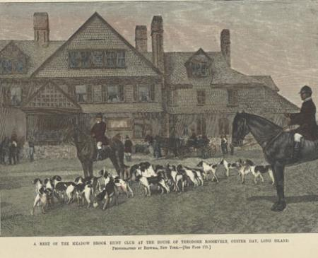 """A Meeting of the Meadowbrook Hunt Club at the House of Theodore Roosevelt, Oyst"