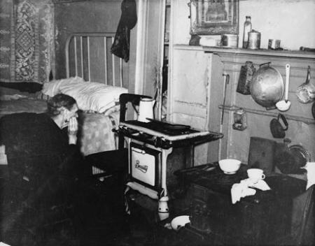 Unidentified woman in a Lower East Side tenement, c. 1935-37. (Photograph by Arn