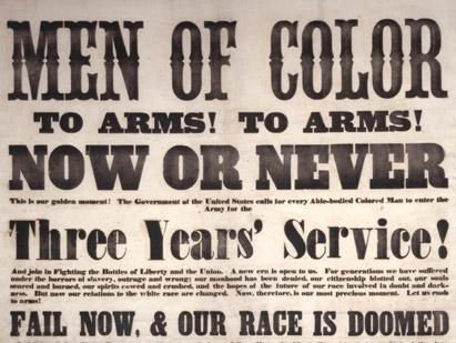 'Men of Color to Arms! To Arms!' (GLC02752)