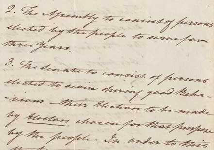 Notes of a Speech by Alexander Hamilton at the Constitutional Convention, June 1