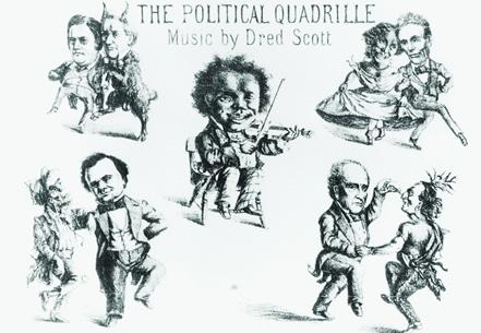 Dred Scott Political Cartoon  (Courtesy Library of Congress)