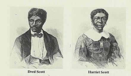 Dred Scott and Harriet Scott, from Frank Leslie's Illustrated Newspaper, June 27