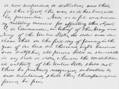 'Thenceforward, and forever, be free' Lincoln's first draft of the Emancipation
