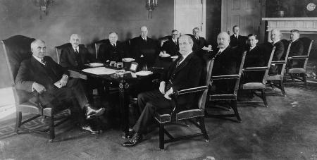Warren Harding and his Cabinet, 1921 (Library of Congress P&P)